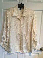 Josephine Chaus Woman, Woman's Size 18W, Ivory, Button Down Shirt