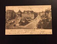 Postkarte München Karlsplatz gegen den Bahnhof 1906