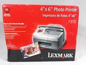 """New Lexmark P315 SnapShot 4""""x6"""" Photo Printer"""