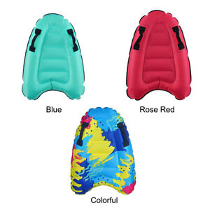 Foldable Inflatable Surfing Bodyboard Fun Pool With Handles Lightweight Portable