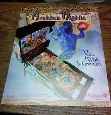 Williams TALES OF THE ARABIAN NIGHTS Pinball Game flyer- original
