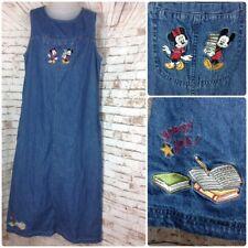 Disney Escuela Teacher L Vaqueros sin mangas maxi vestido de punto Mickey