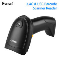 2 in 1 Barcode Laser Scanner with USB Receiver Reader for Computer Mac OS POS PC