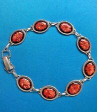 HANDMADE Sterling Silver and Enamel Bracelet