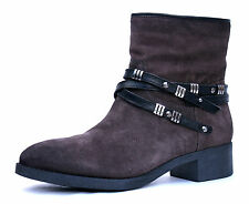 Zign UK 6 (EU 39) Womens Brown Suede Leather Zip Up Cowboy Ankle Boots