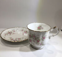 Paragon Victoriana Rose Bone China Tea Cup and Saucer Set Pink Floral England