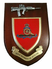Royal Regiment of Artillery Military Wall Plaque+ Pewter SA80