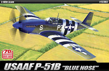 Academy 1/48 Plastic Model Kit USAAF P-51B Blue Nose Cartograf Decal 12303 NIB
