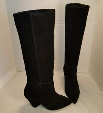 NEW JEFFREY CAMPBELL SENITA MODERN BLACK SUEDE SLOUCH BOOTS US 7 MSRP $248.00