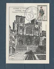 carte  1er jour  journée du timbre   38  Vienne    1961