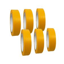 "(0,05€/1m) 6 Rollen ""Premium"" Goldband / Washi Tape / Malerband / Abdeckband"