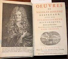 Originale französische antiquarische Bücher über Belletristik von 1700-1799