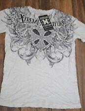 Extreme Couture Men's 2 Sided Graphic T-Shirt Tee Size Large SMASH