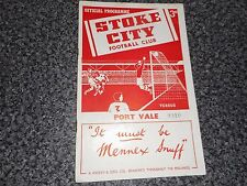 STOKE CITY  v  PORT VALE  1955/6  ~ MARCH 31st   POTTERIES ' DERBY '  VINTAGE
