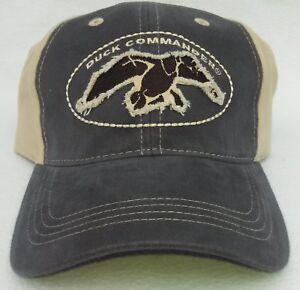 DUCK COMMANDER (Dynasty) Khaki/Dark Grey Twill Cap/Hat Mens One Size 100% Cotton