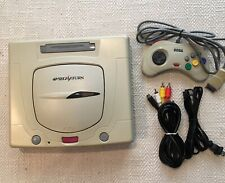 Sega Saturn White Console Japanese w/controller cables plays japanese games