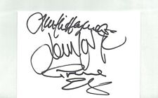 THE MOODY BLUES AUTOGRAPHED INDEX CARD HAND SIGNED BY HAYWARD,LODGE,EDGE w/ COA