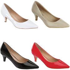Vegan Patent Leather Pointy Toe Kitten Low Heel Classic Pump Slide Shoes Sandal