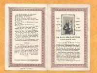 IMAGE PIEUSE HOLY CARD  SAINT ANTOINE DE PADOUE OEUVRE  PAIN DES PAUVRES TOULON