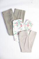 Bogner Women's Button Closure Casual Pants Cotton Brown White Size 10 Lot 3