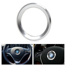 Silver Steering Wheel Center Logo Ring Cover For BMW 1 3 4 5 7 Series M3 GT5 X5
