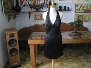 Dress Summer, Black, Size M, Fastening Rear Al Neck