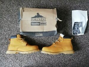 Portwest Steelite Welted Plus Safety Boot SBP HRO Leather Steel Toe FW35 size 11