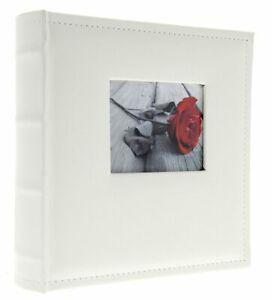White Large Eco Leather Photo Album 500 6 x 4'' Photos Memo Wedding Rose Gift