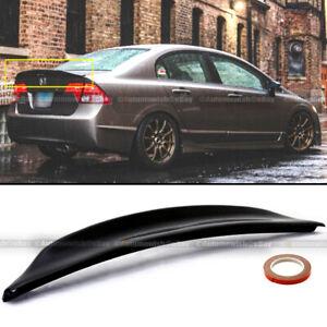 For 06-11 Civic 4DR Duckbill Highkick Painted Glossy Black Trunk Wing Spoiler