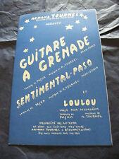 Partition Guitare à Grenade A Tournel Sentimental Paso Loulou