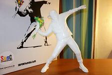 "Sync. Medicom Toy Brandalism Banksy ""2017 Flower Bomber"" Statue Sculpture Figure"