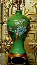 "24"" CHINESE PORCELAIN CELADON MEIPING VASE LAMP***10% OFF 4 THE PAIR!!! ASIAN"