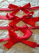 Pack of 4 Red Bows // Red bows with ribbon // Perfect for Christmas