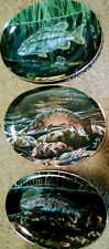 (3) Bradford Exchange Fresh Water Game Fish Of North America Collector Plates 3