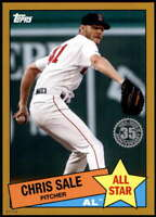 Chris Sale 2020 Topps 1985 35th Anniversary All-Stars 5x7 Gold #85AS-14 /10 Red