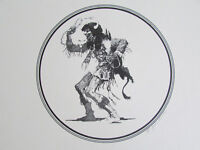 "Vintage Buffalo Native Dancing American Wall Decor Signed Art Print 12""x12"""