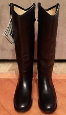NEW WOMEN FRYE MELISSA BUTTON  TALL BLACK LEATHER BOOTS SZ 7.5