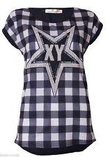 Damenblusen,-Tops & -Shirts mit Kurzarm-Ärmelart ohne Kragen und Baumwolle für Business