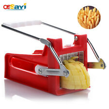 French Fry Cutter Chip Maker Stainless Steel Blade Potato Slicer 2 Blades Tools