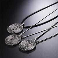 Baum des Lebens Sterling Silber Anhänger Halskette, Amulett, Nordischer Baum