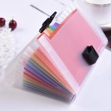 A6 Expanding File Folder Organizer Document Wallet Organizer Bag Rainbow ss