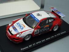 """1/43 Spark PORSCHE 997 GT OPEN 2007 """"AKKA"""" #45 1st GTB VALENCIA"""
