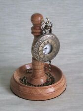 Reloj de bolsillo Soporte de Madera colgador de madera de roble claro soporte de madera de pantalla única