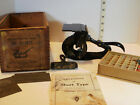 Antique Sigwalt Chicago Printing Press with Box Type Roller and Accessories