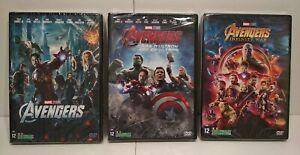 Lot 3 DVD AVENGERS 1 2 3 - PAL Zone 2 - Neuf / New & Selead