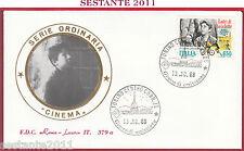 ITALIA FDC ROMA LUXOR CINEMA VITTORIO DE SICA LADRI BICICLETTE 1988 TORINO Z397