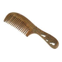 Green Sandalwood Wide Tooth Wooden Comb No Static Comb Brush for Curly Hair