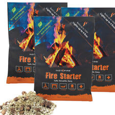 InstaFire 3 PACK Survival & Emergency Fire Starter Tinder - in Mylar Pouch
