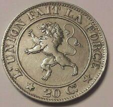 20 CENTS Centimes  LEOPOLD I 1861 BELGIQUE Belgïe KM# 20, LA# BFM-47 TTB SUP