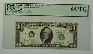 1969B $10 Bill *STAR* Federal Reserve Note FRN PCGS 64PPQ Fr. 2020-E (B)
